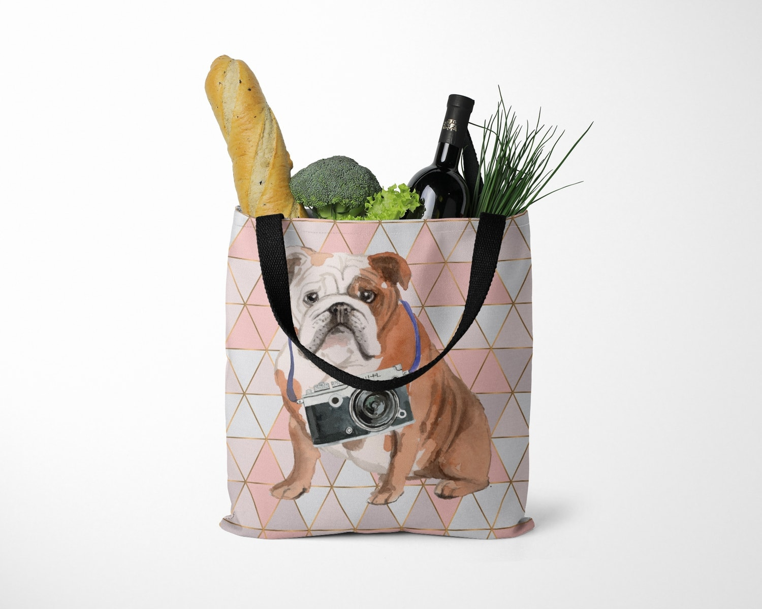 English Bulldog Travel Style Tote Bag