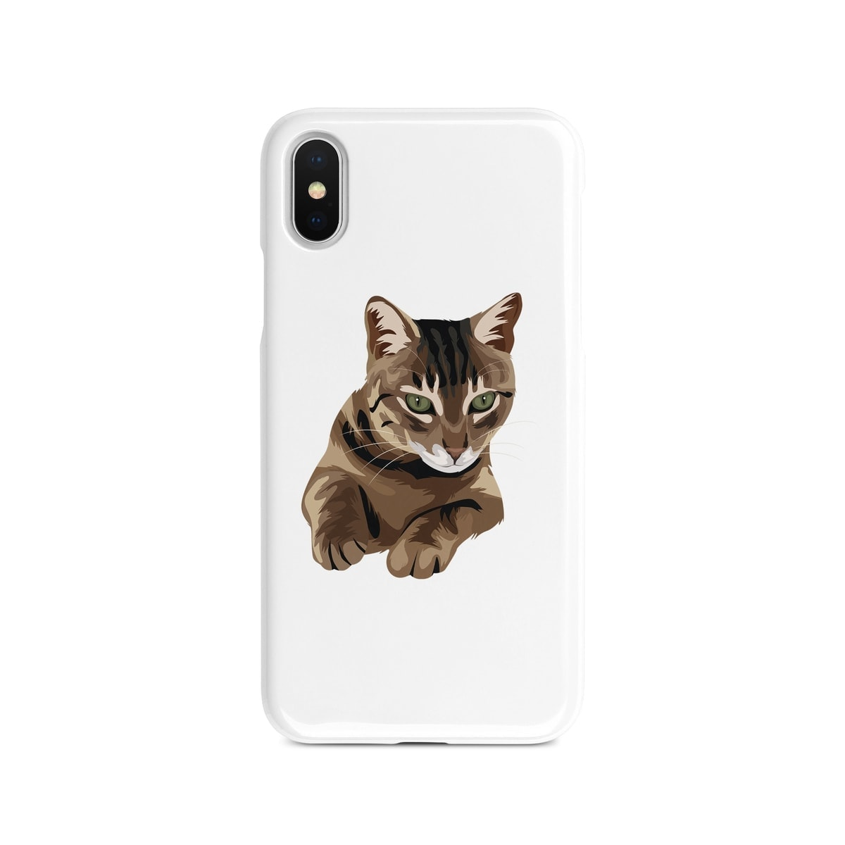 Custom Cat Illustration Portrait Phone Case Personalised Portrait Of Your Pet From A Photo For Your Iphone 6 S Plus 7 Plus 8 Plus X Xs Xr Max
